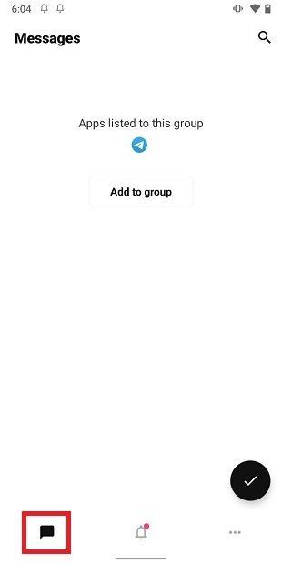 Grupos de notificaciones