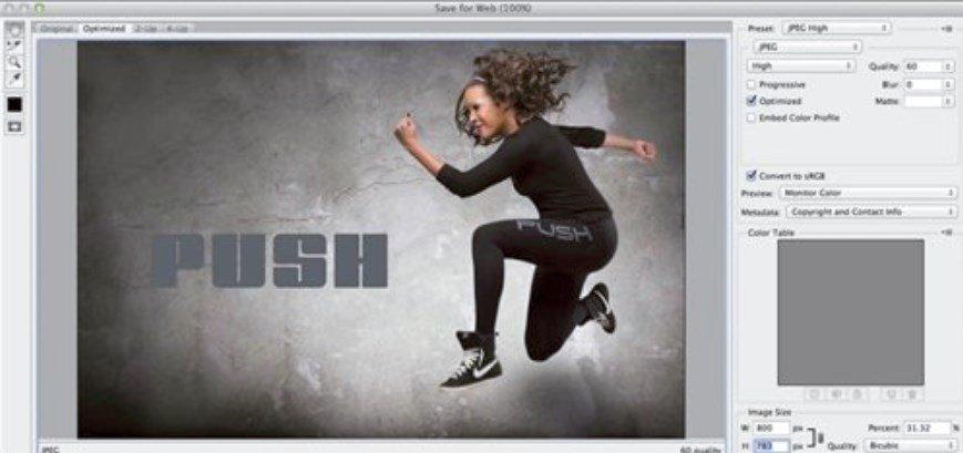 Guardar imágenes en Photoshop CC