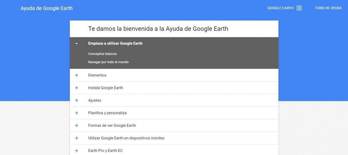 Guía de usuario de Google Earth