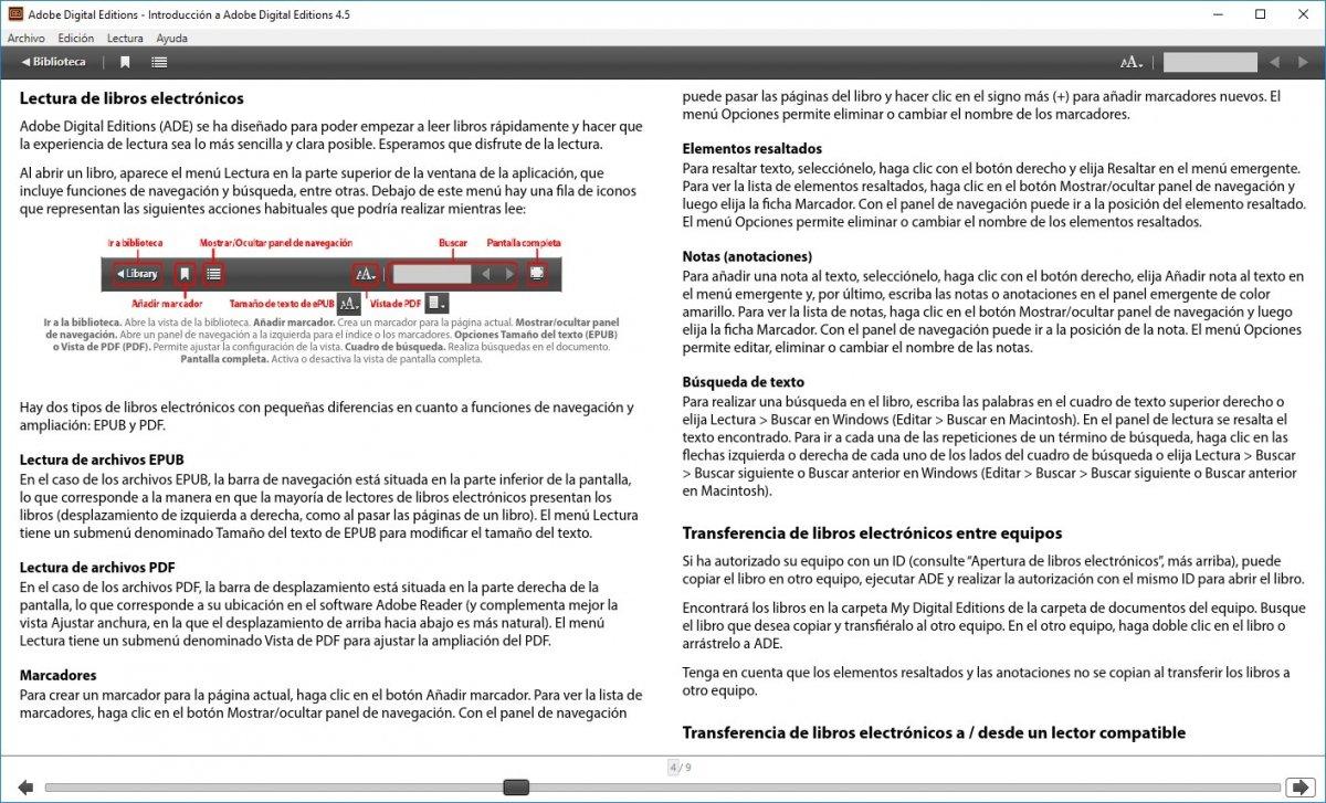 Guía inicial de Adobe Digital Editions