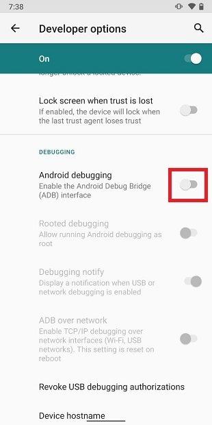 Habilitar la depuración en Android