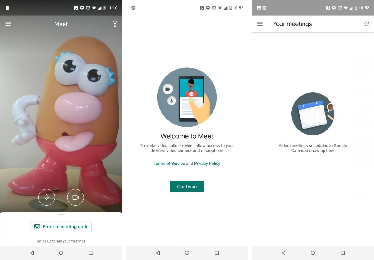 Hangouts Meeet is Google's solution for business meetings