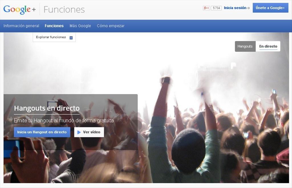 Hangsout en directo tiene un problema, funciona con Google+