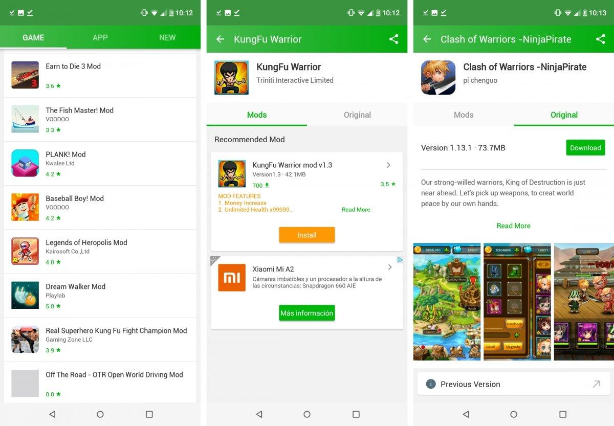 HappyMod también contiene juegos trucados