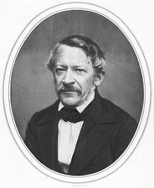 Retrato de Heinrich Wilhelm Dove en 1857