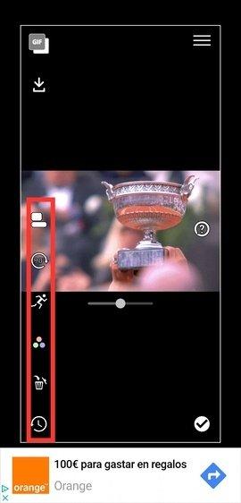 Herramientas de edición de GIF Live Wallpaper