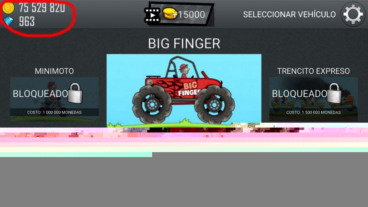 Hill Climb Racing hackeado con Lucky Patcher