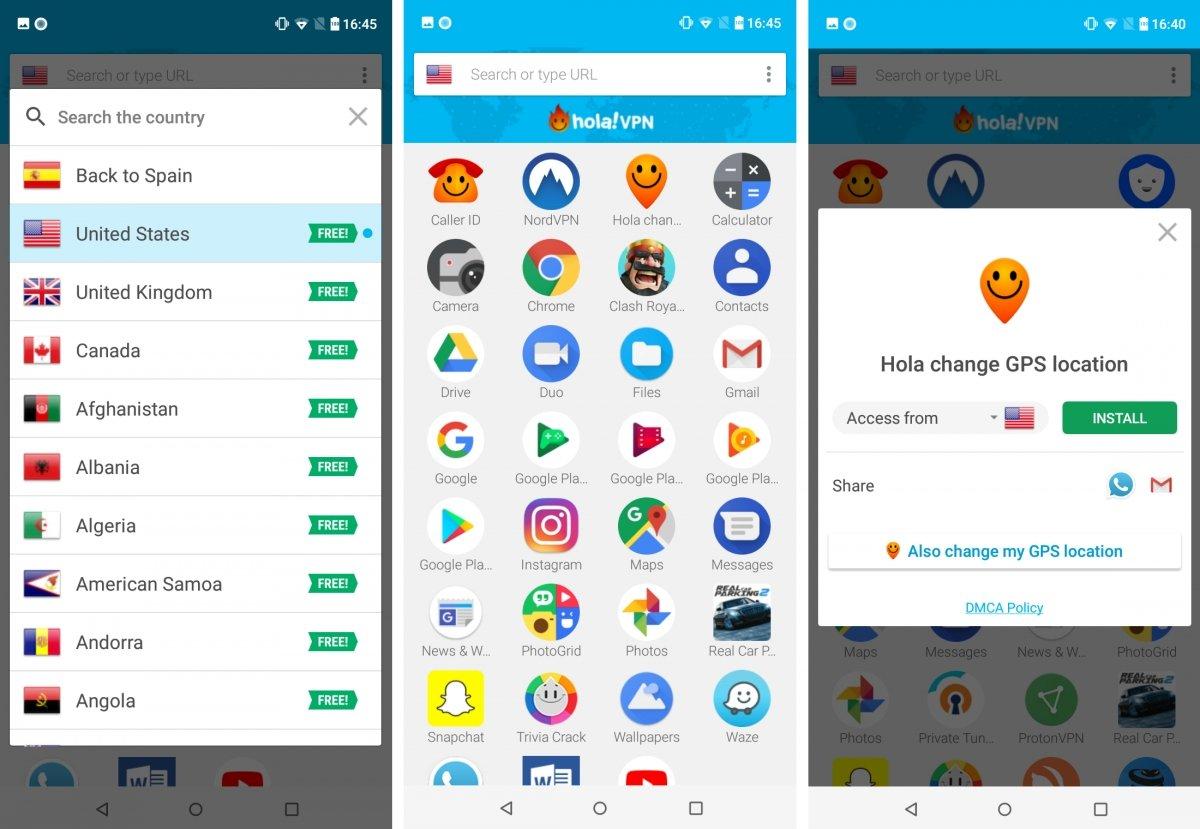 Hola VPN es además un launcher de apps