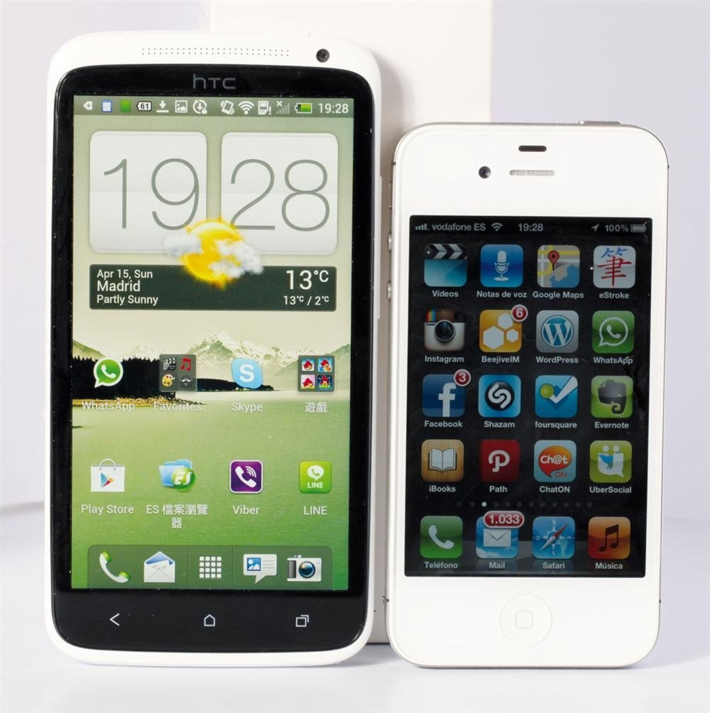 HTC One X con iPhone 4S