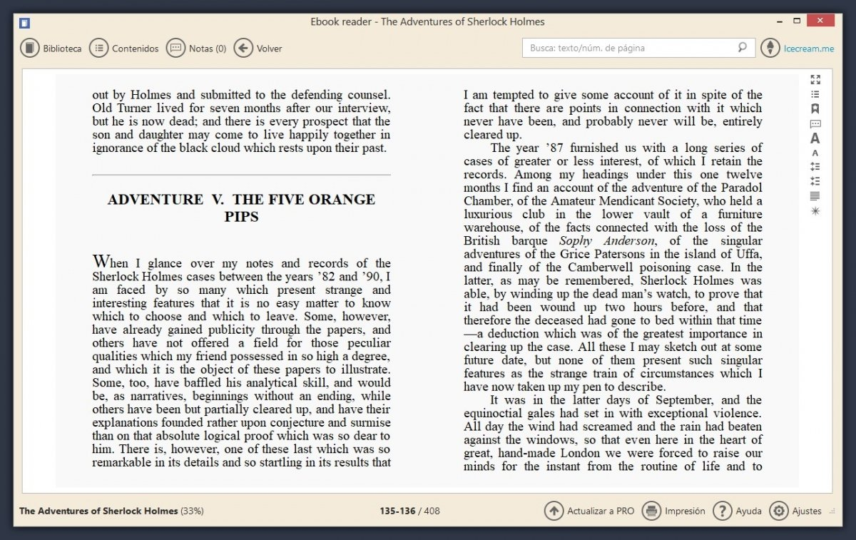 Icecream eBook Reader es un buen lector de libros para PC