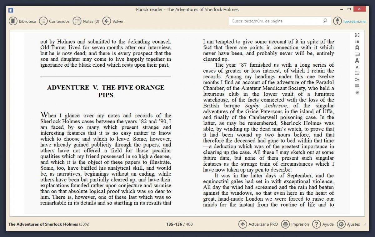 Icecream eBook Reader es un buen lector de libros para PC