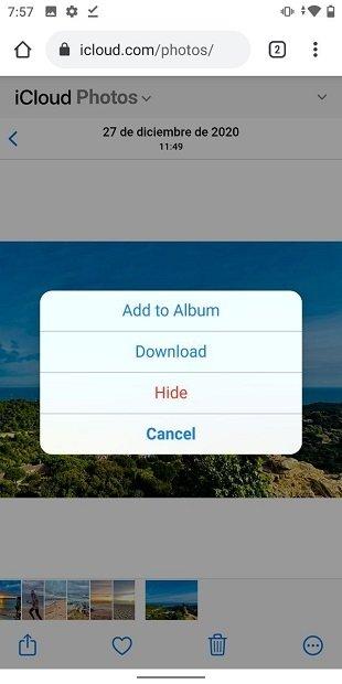 iCloud Photos desde la Web
