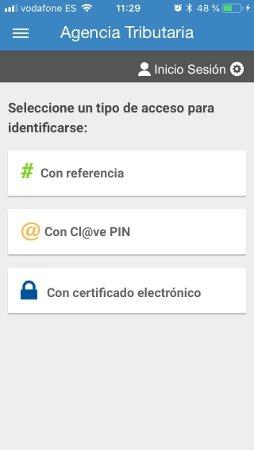 Identificación en la app de la Agencia Tributaria para ver el borrador