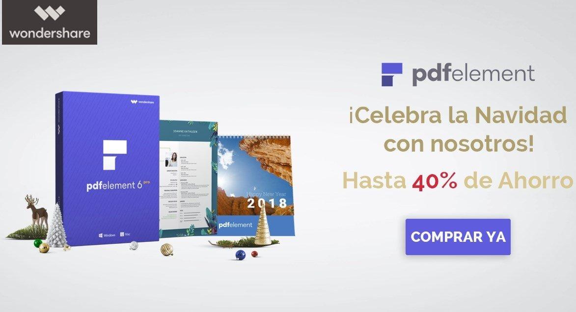 Imagen de la campaña de navidad promocional de PDFelement de Wondershare