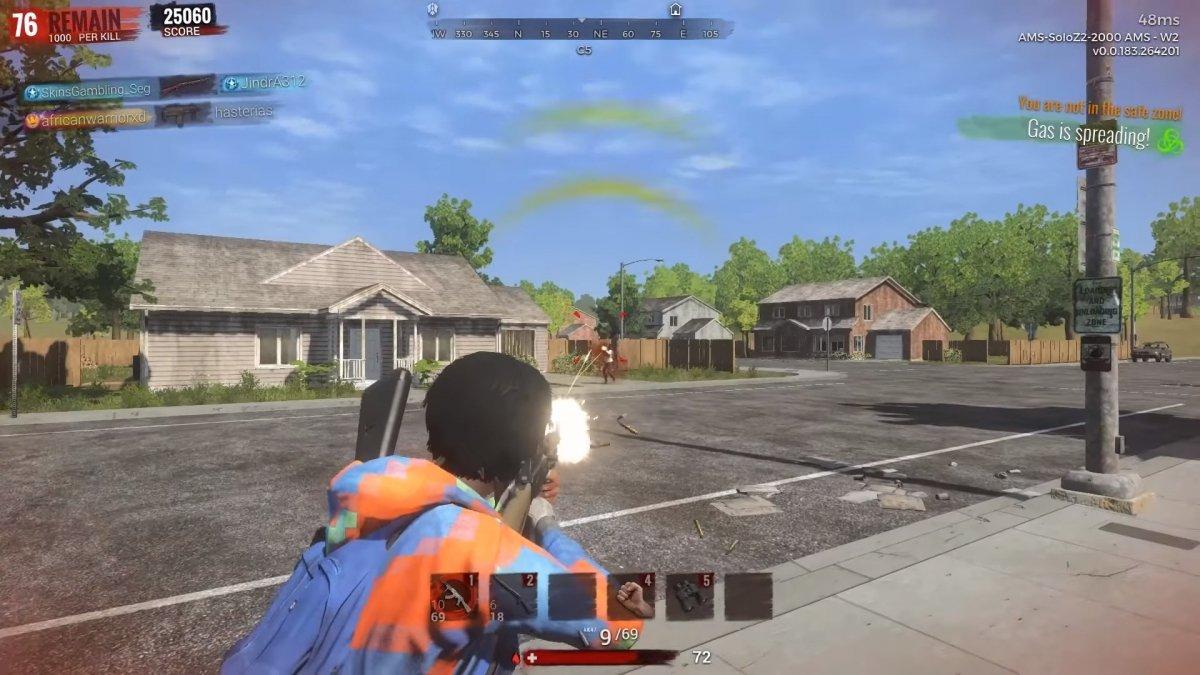 Imagen de un combate en H1Z1