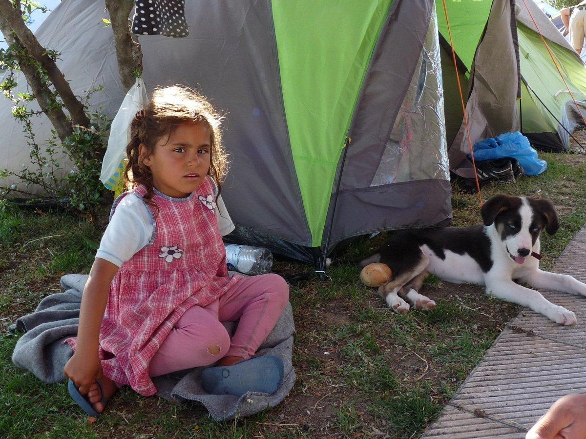 Imagen representativa de un campamento de refugiados