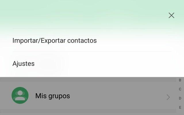 Importar y exportar contactos en la app del teléfono