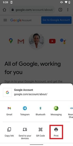 Imprimir desde Google Chrome