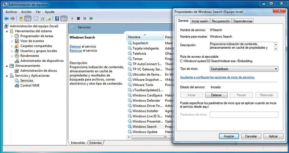 Indexado Windows 7