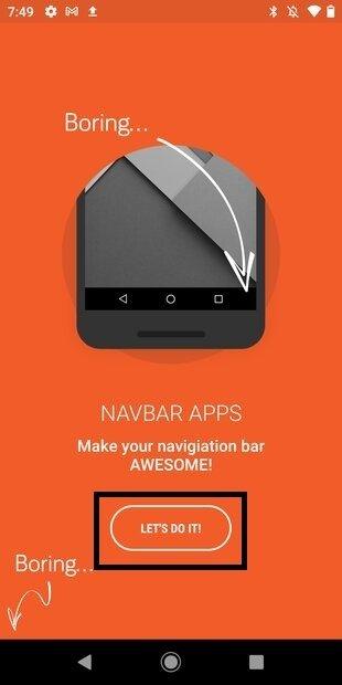 Iniciar configuración de Navbar Apps
