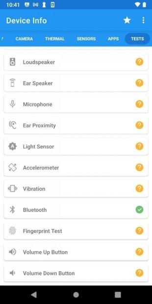 Iniciar la prueba del Bluetooth