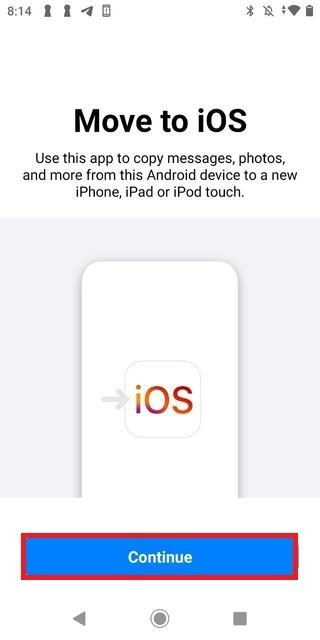 Iniciar Move to iOS