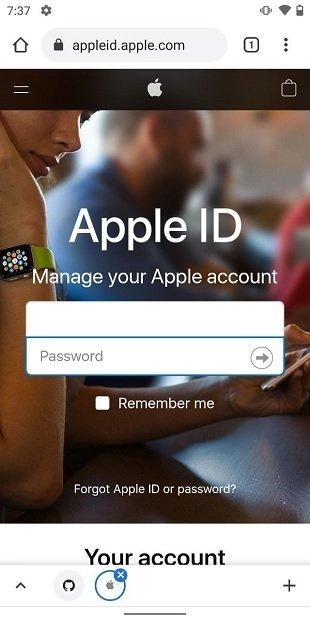 Iniciar sesión en Apple ID