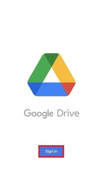 Iniciar sesión en Google Drive
