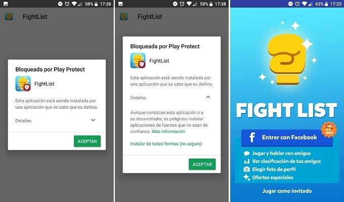 Instalación de la versión modificada de Fight List
