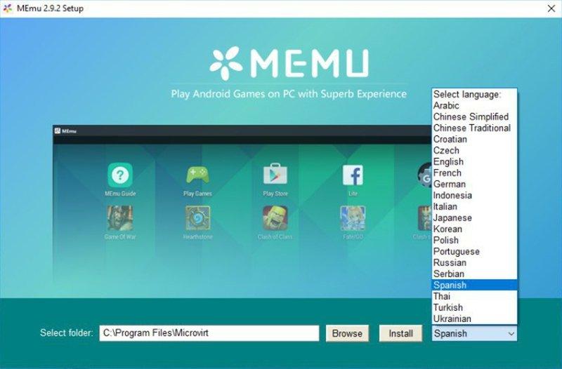 Instalación de MEmu en PC