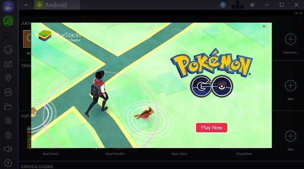 Instalación de Pokémon GO en BlueStacks