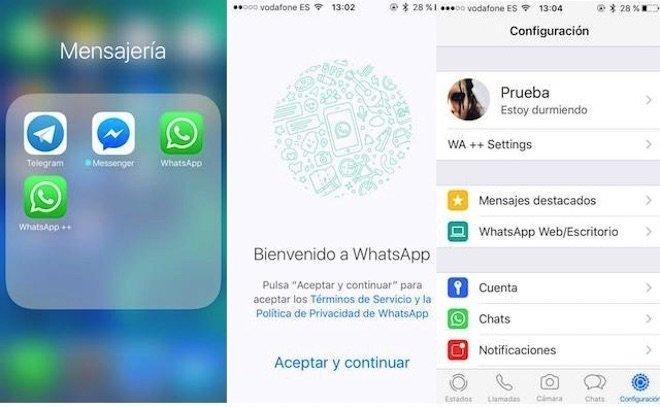 Instalación WhatsApp++ 4