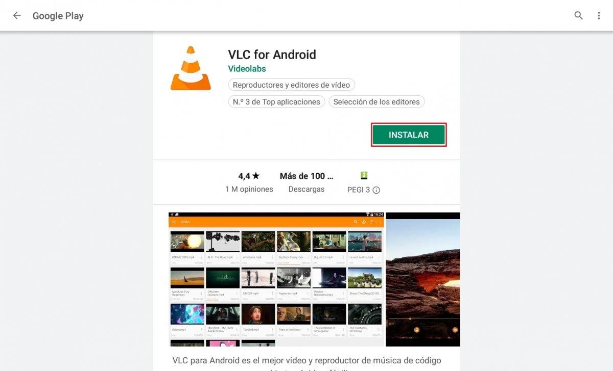 Instalando una app en Google Play