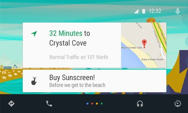 Interfaz de Android Auto con Google Maps