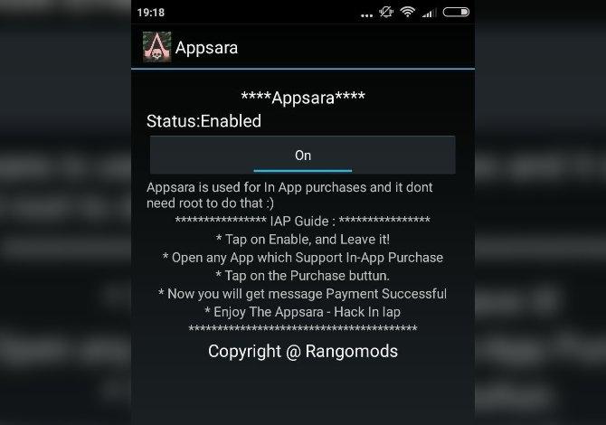 Interfaz de AppSara