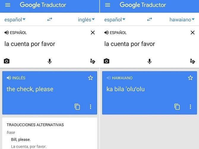 Interfaz de Google Translate, para eliminar cualquier barrera idiomática
