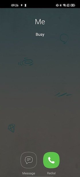 Interfaz de la llamada en Viber