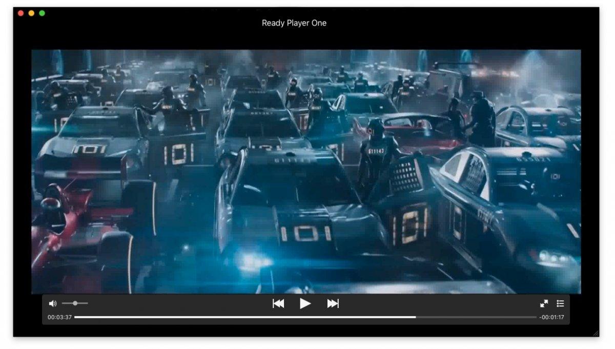 Interfaz de MPlayerX para Mac