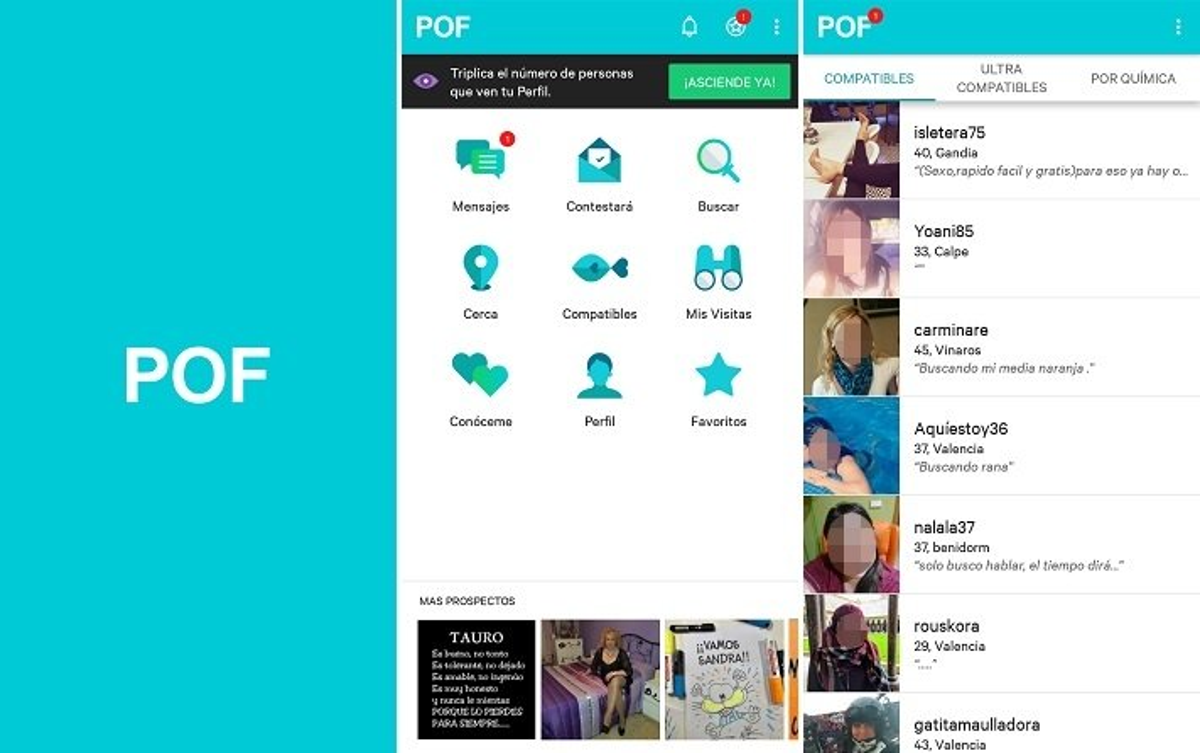 Interfaz de POF para Android