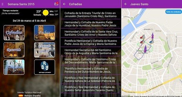 Interfaz de Semana Santa de Badajoz