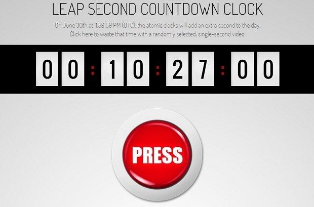 Interfaz de 'Spend your leap second here'
