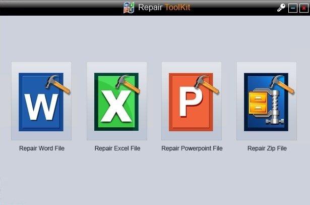 Interfaz principal de Wondershare MS Office File Repair