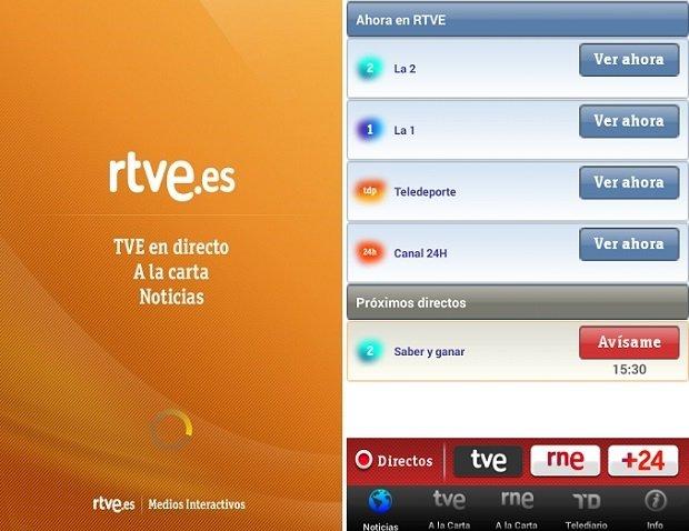 Interfaz RTVE para poder ver Eurovisión 2015