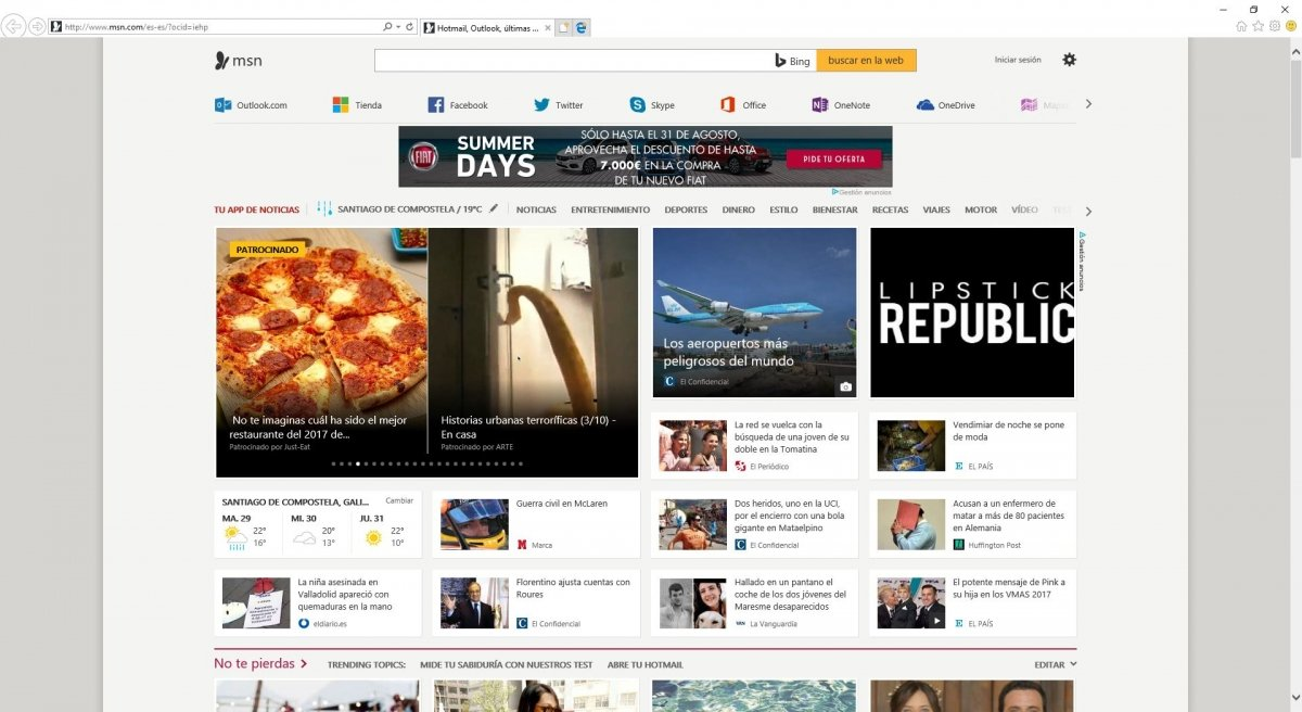 Internet Explorer 11 en Windows 10
