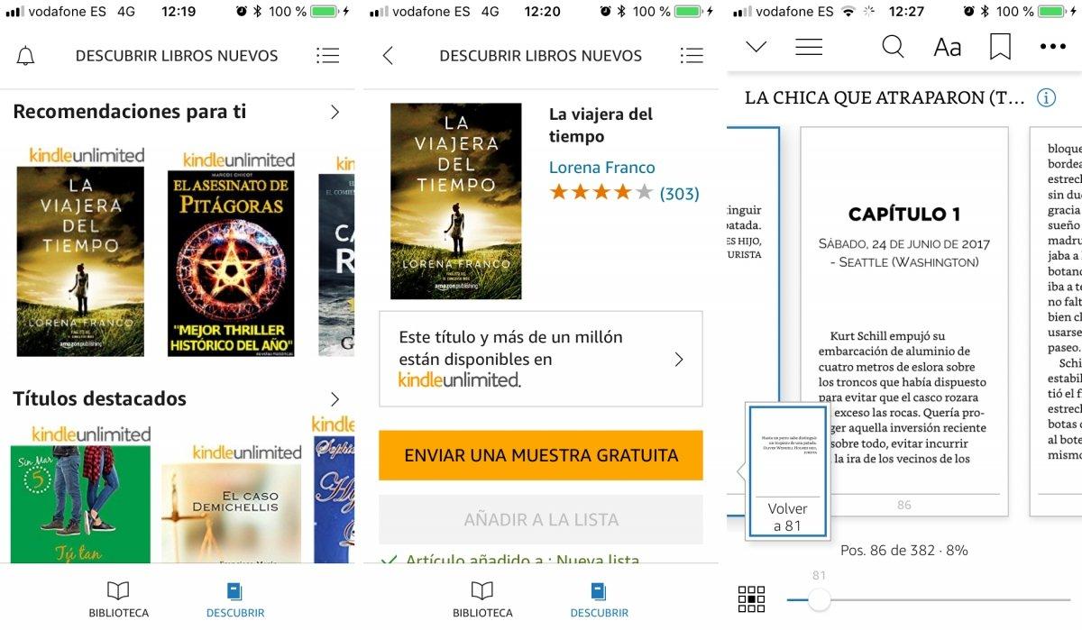 Kindle para iPhone tiene de todo para lectores