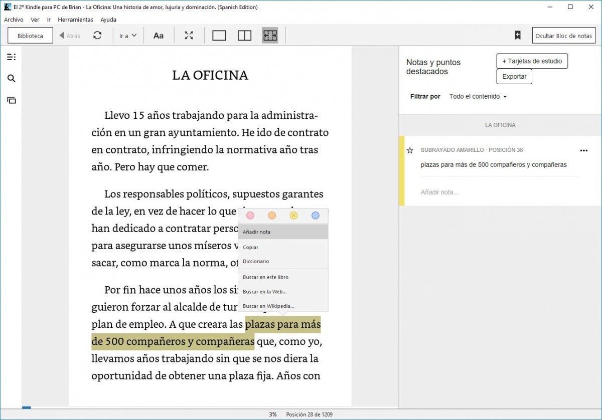 Kindle para PC se sincroniza con tu cuenta en Amazon