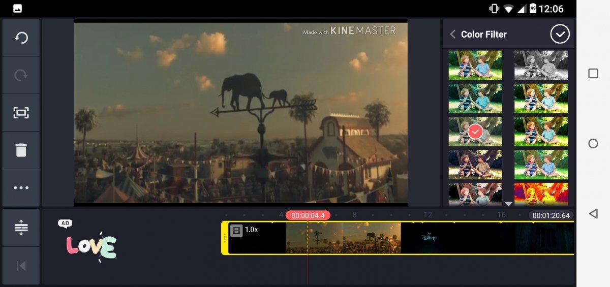 Kinemaster para Android es un editor de vídeos profesional