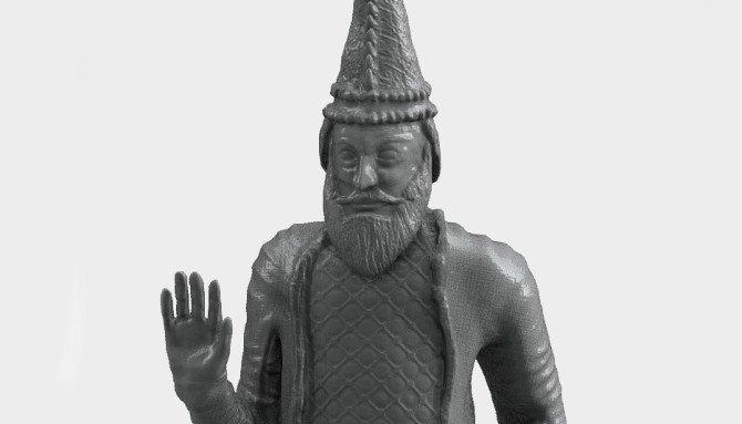 King Uthal reconstruido en impresión 3D