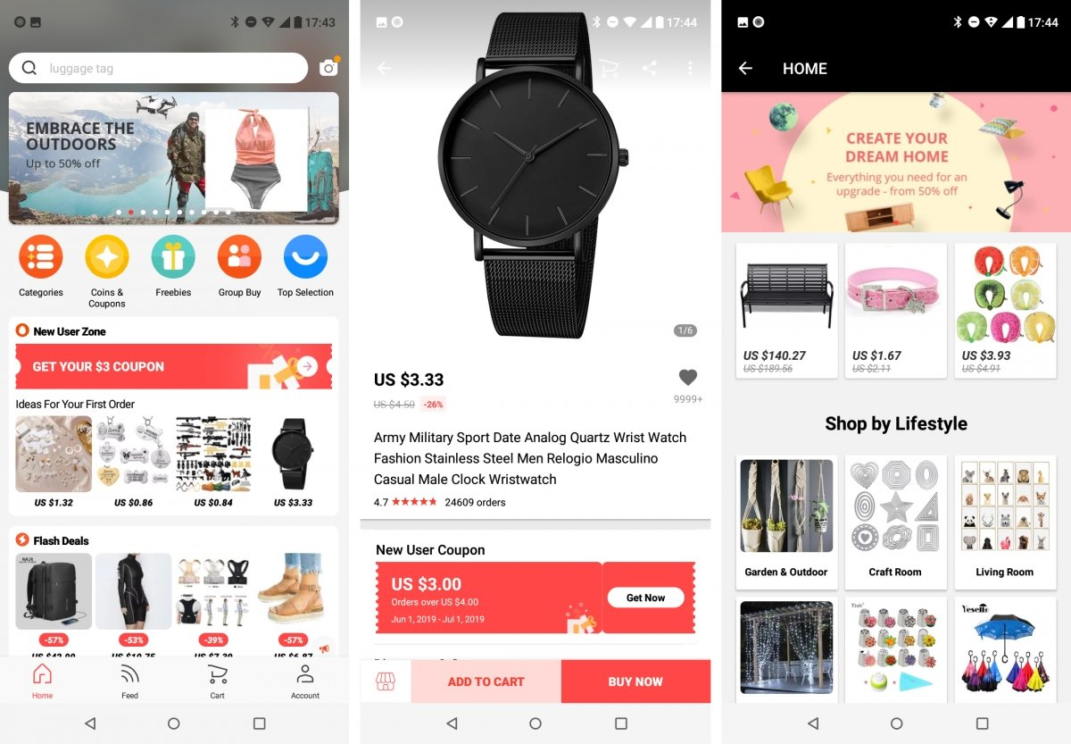 The AliExpress app is ideal to buy with your mobile