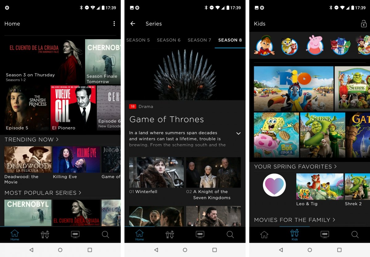 The HBO app for Android